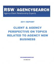 2011 Agency New Business Report