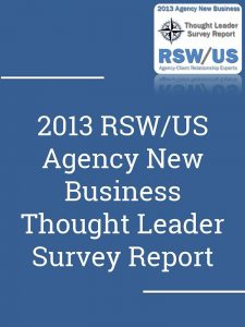 2013 Agency Thought Leader Report